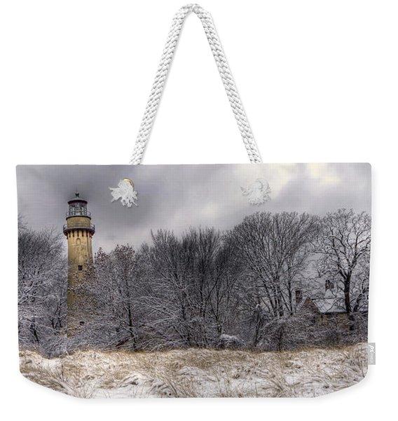 0243 Grosse Point Lighthouse Evanston Illinois Weekender Tote Bag