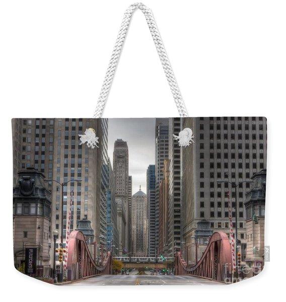 0295 Lasalle Street Chicago Weekender Tote Bag