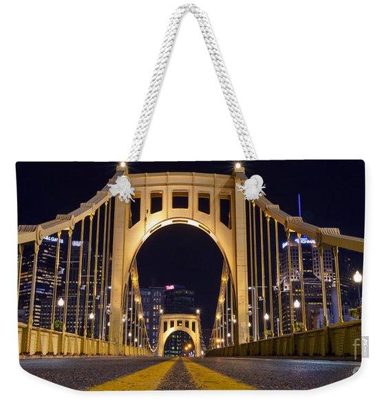 0304 Roberto Clemente Bridge Pittsburgh Weekender Tote Bag