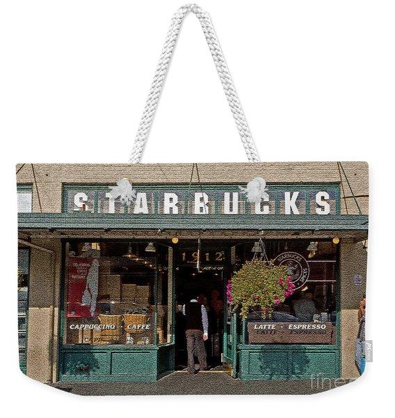 0370 First Starbucks Weekender Tote Bag