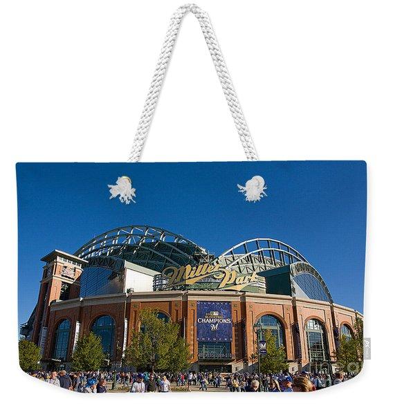 0386 Miller Park Milwaukee Weekender Tote Bag