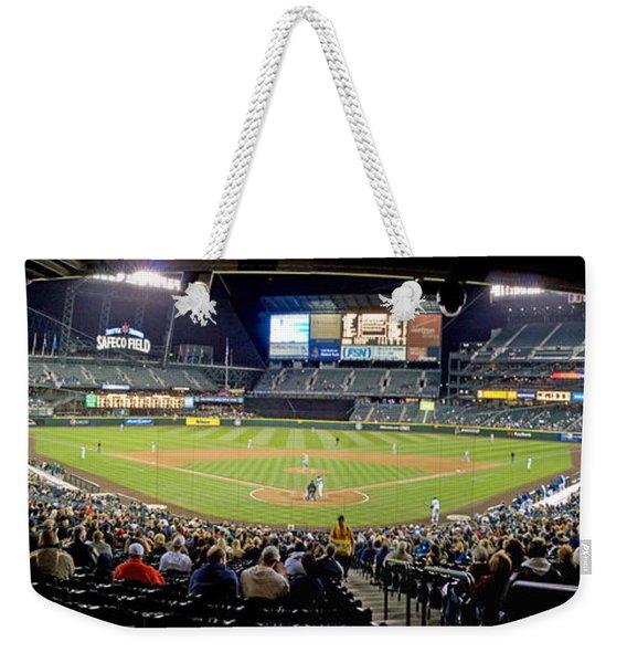 0434 Safeco Field Panoramic Weekender Tote Bag