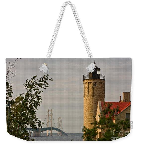 0558 Old Mackinac Point Lighthouse Weekender Tote Bag