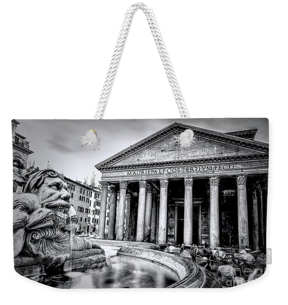 0786 The Pantheon Black And White Weekender Tote Bag