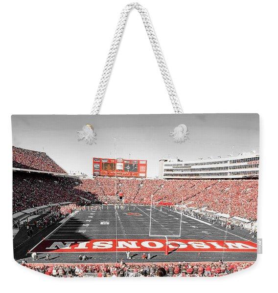 0813 Camp Randall Stadium Panorama Weekender Tote Bag