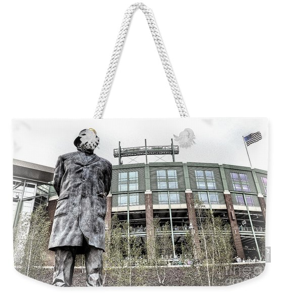 0855 Lombardi Statue Weekender Tote Bag