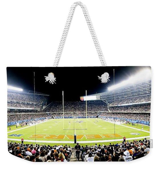 0856 Soldier Field Panoramic Weekender Tote Bag