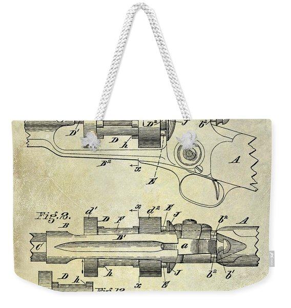 1892 Colt Patent Drawing Weekender Tote Bag