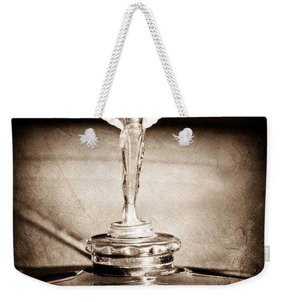 1928 Nash Coupe Hood Ornament Weekender Tote Bag
