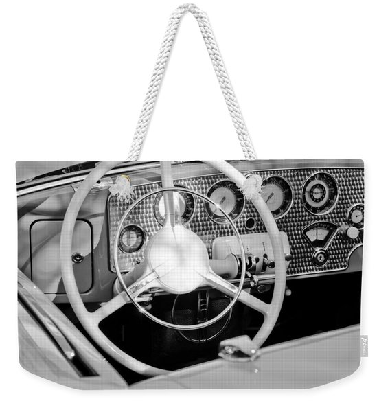 1937 Cord Sc Cabriolet Steering Wheel Weekender Tote Bag
