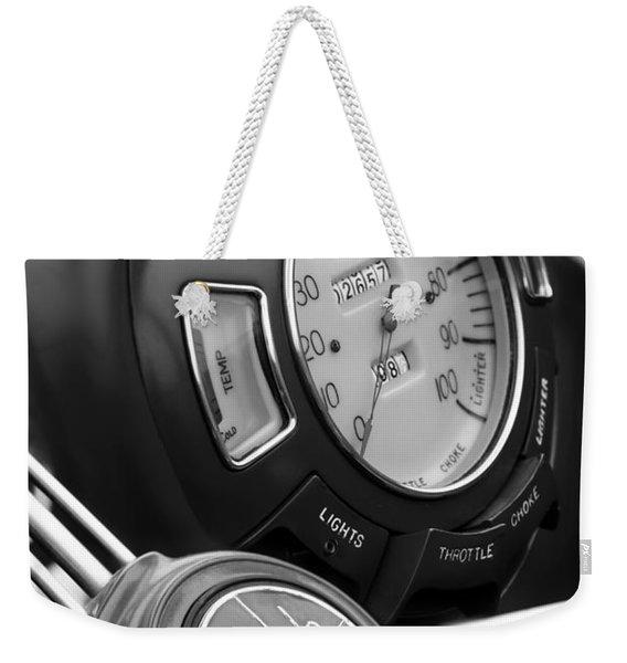 1940 Lincoln-zephyr Continental Cabriolet Steering Wheel Emblem Weekender Tote Bag