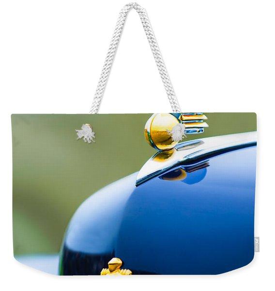 1942 Lincoln Continental Cabriolet Hood Ornament - Emblem Weekender Tote Bag