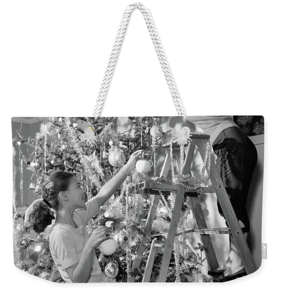1950s Mother And Daughter Decorating Weekender Tote Bag