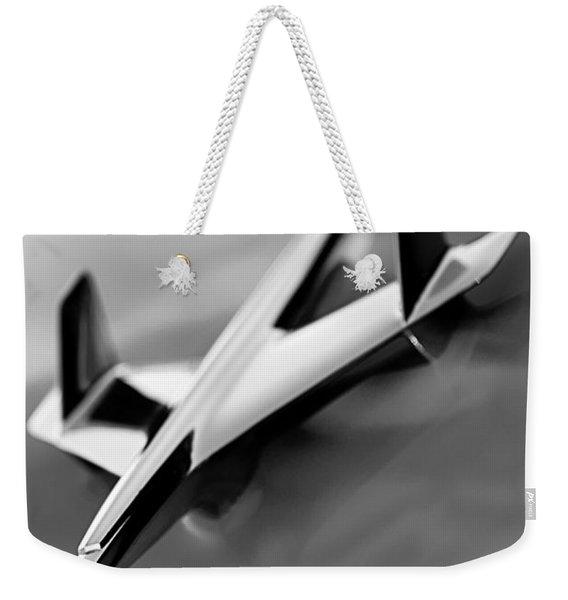 1955 Chevrolet Belair Nomad Hood Ornament Weekender Tote Bag