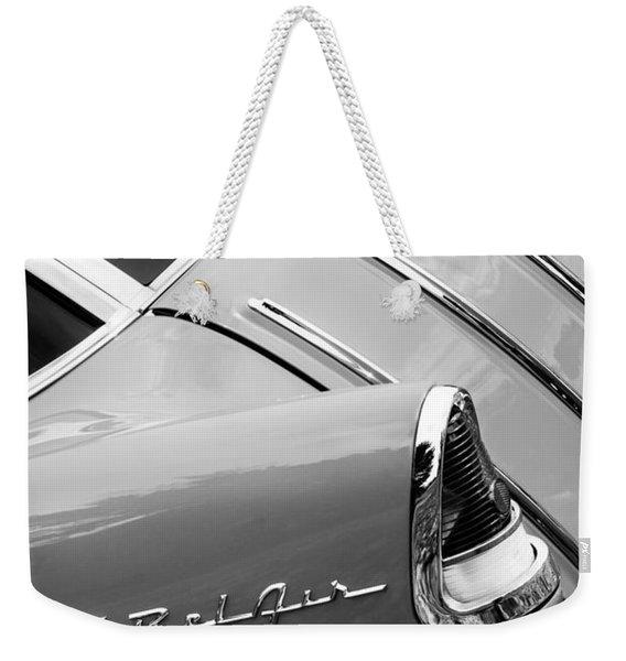 1955 Chevrolet Nomad Wagon Taillight Emblem Weekender Tote Bag