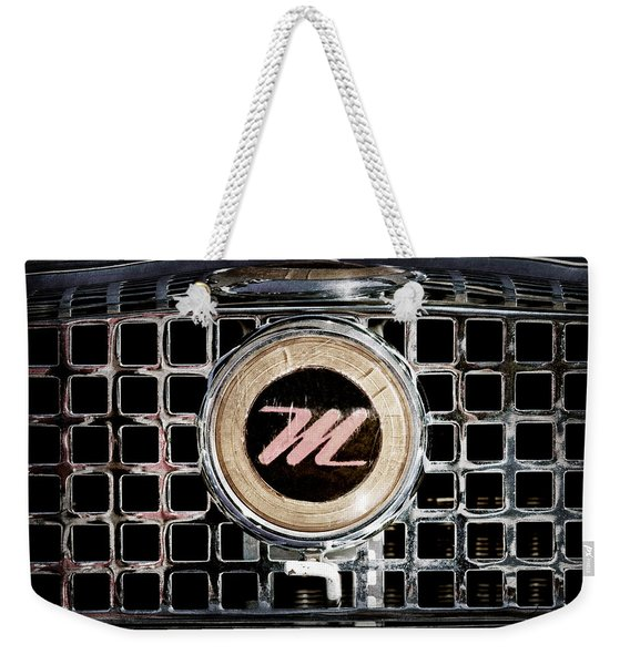 1958 Nash Metropolitan Grille Emblem Weekender Tote Bag