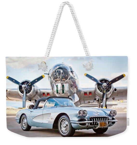 1960 Chevrolet Corvette Weekender Tote Bag