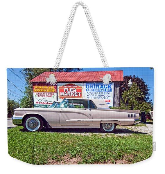 1960 Thunderbird  Weekender Tote Bag