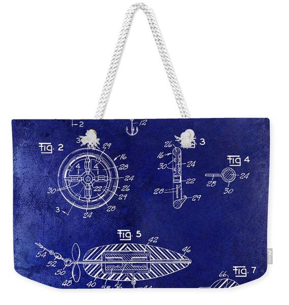 1962 Animated Fish Lure Blue Weekender Tote Bag
