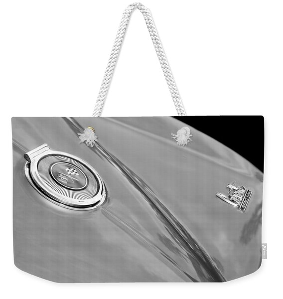 1966 Chevrolet Corvette Coupe Emblems Weekender Tote Bag