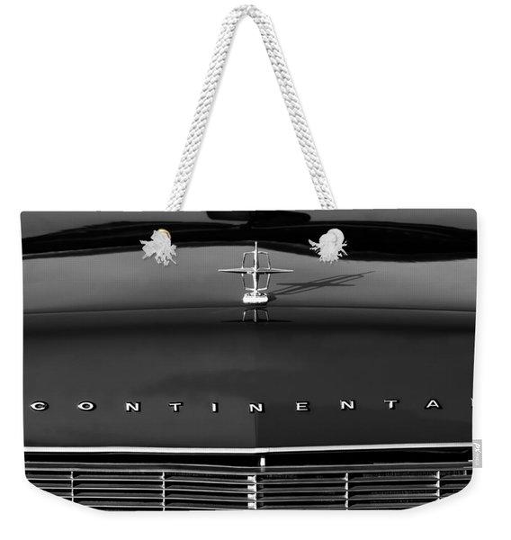 1967 Lincoln Continental Hood Ornament Grille Emblem Weekender Tote Bag
