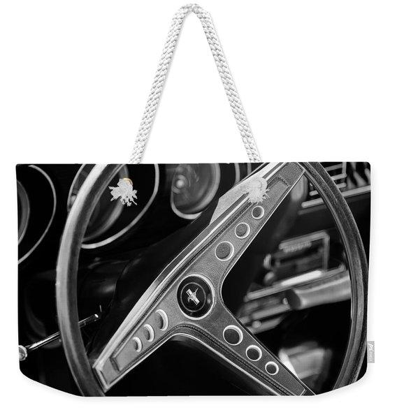 1969 Ford Mustang Mach 1 Steering Wheel Emblem Weekender Tote Bag
