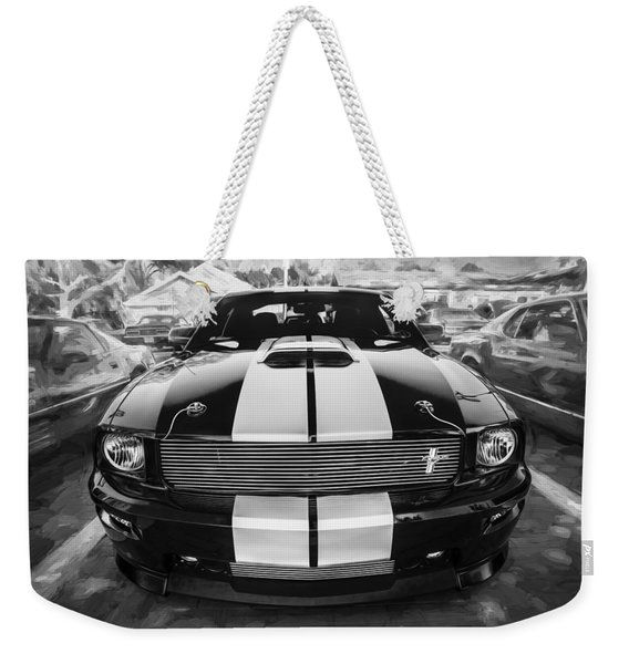 2007 Ford Mustang Shelby Gt Painted Bw   Weekender Tote Bag