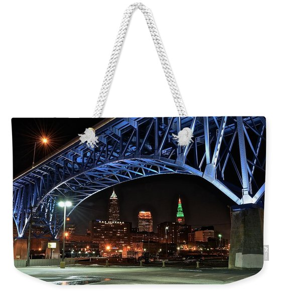 A Cleveland Night Weekender Tote Bag