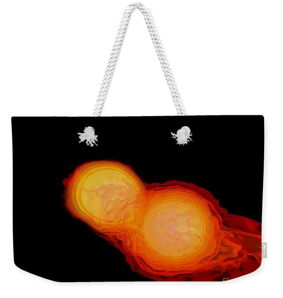 A Pair Of Neutron Stars Colliding Weekender Tote Bag