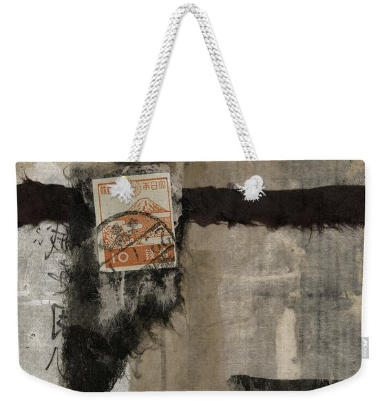 Abstract Japanese Collage Weekender Tote Bag