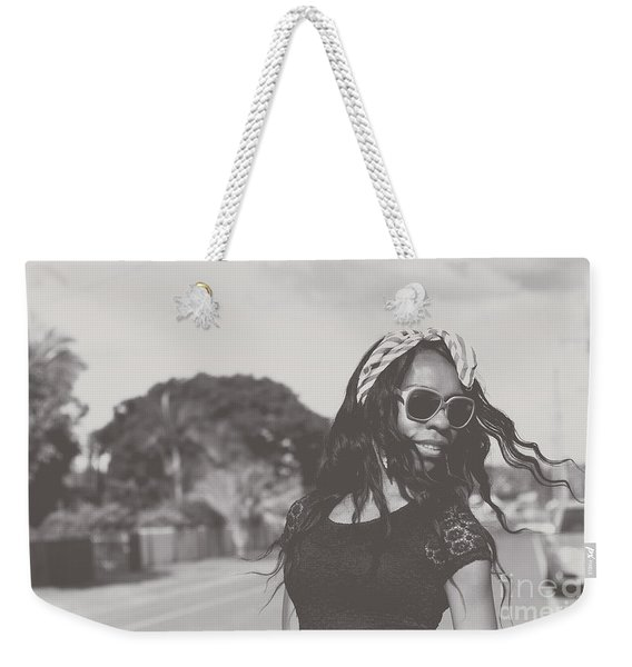 African American Woman With Highfashion Hairstyle Weekender Tote Bag