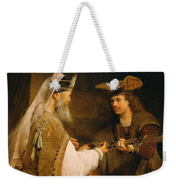 Ahimelech Giving The Sword Of Goliath To David Weekender Tote Bag