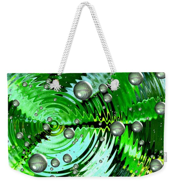 Amazing. Abstract Art. Green Grey  Blue Yellow  Weekender Tote Bag