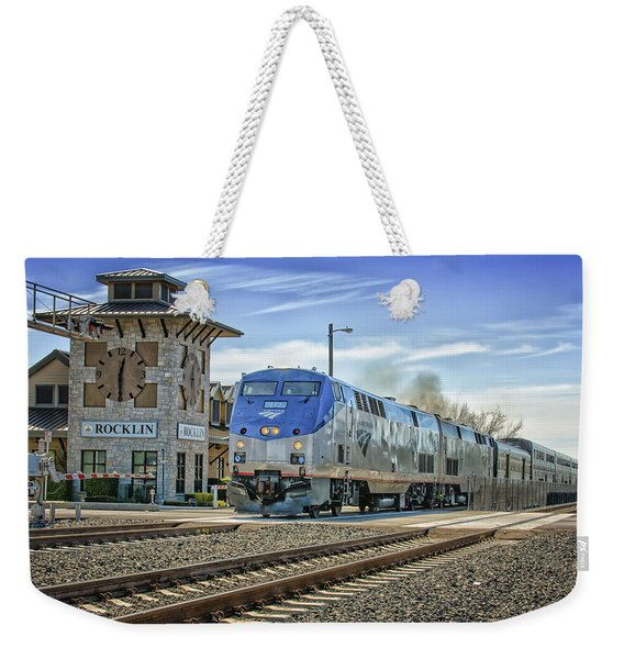 Weekender Tote Bag featuring the photograph Amtrak 112 by Jim Thompson