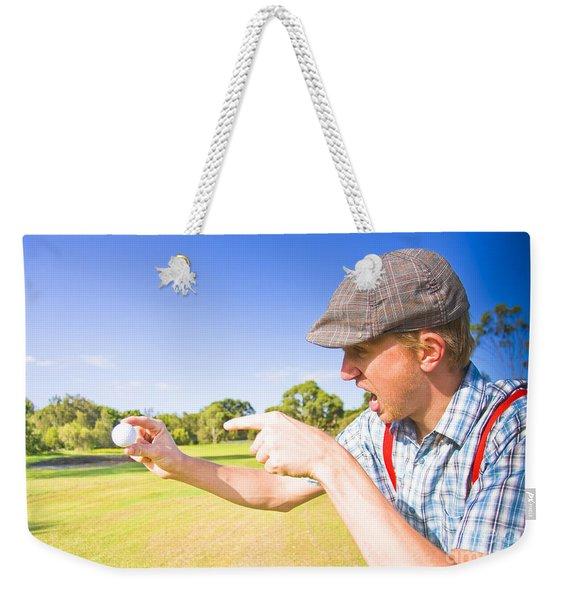 Angry Golf Weekender Tote Bag