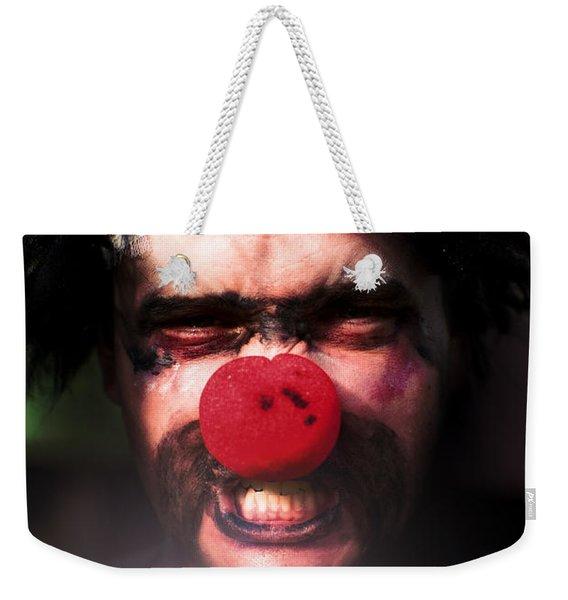 Angry The Clown Weekender Tote Bag