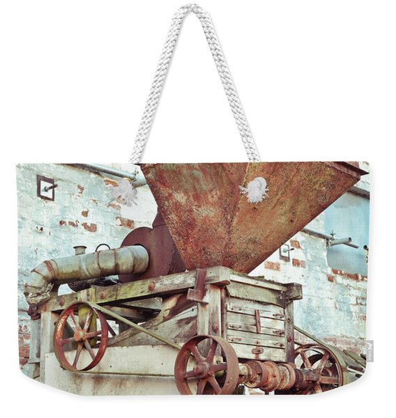 Antique Grain Barrow Weekender Tote Bag