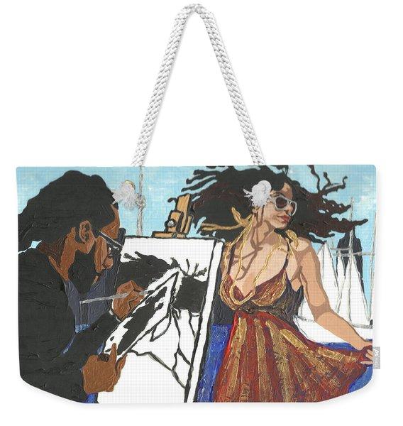 Artist At Work Weekender Tote Bag
