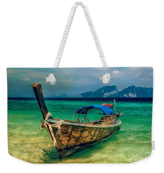 Asian Longboat Weekender Tote Bag