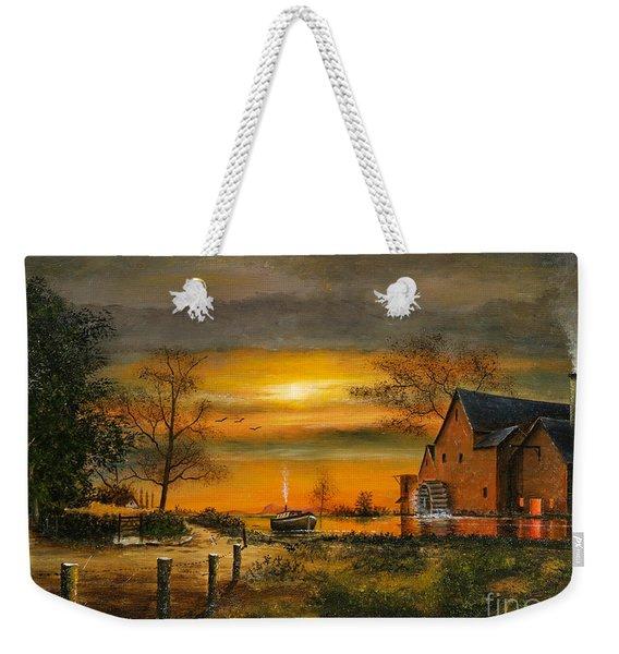Autumn Gold Weekender Tote Bag