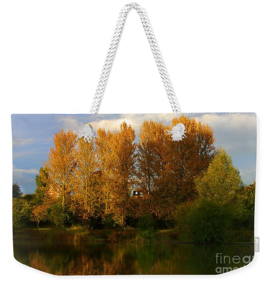 Weekender Tote Bag featuring the photograph Autumn Trees by Jeremy Hayden