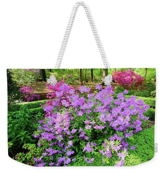 Azaleas In Spring In National Weekender Tote Bag