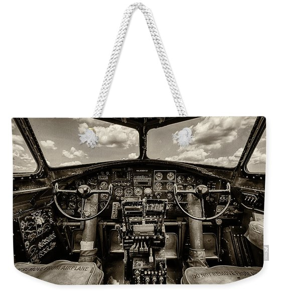 Cockpit Of A B-17 Weekender Tote Bag