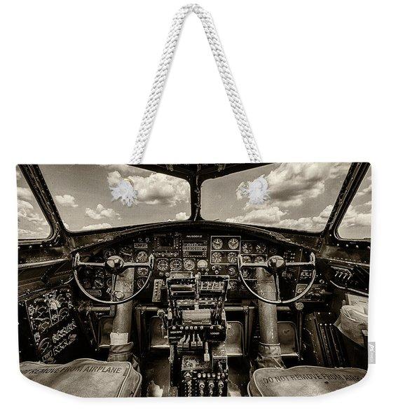 Cockpit Of A B-17 Weekender Tote Bag
