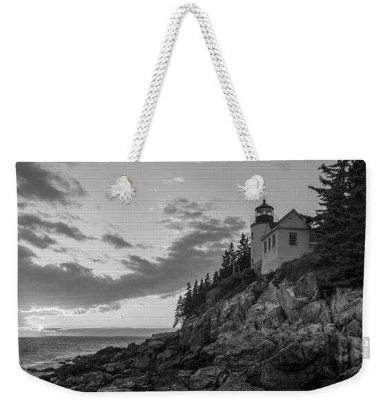 Bass Harbor Head Light Sunset  Weekender Tote Bag