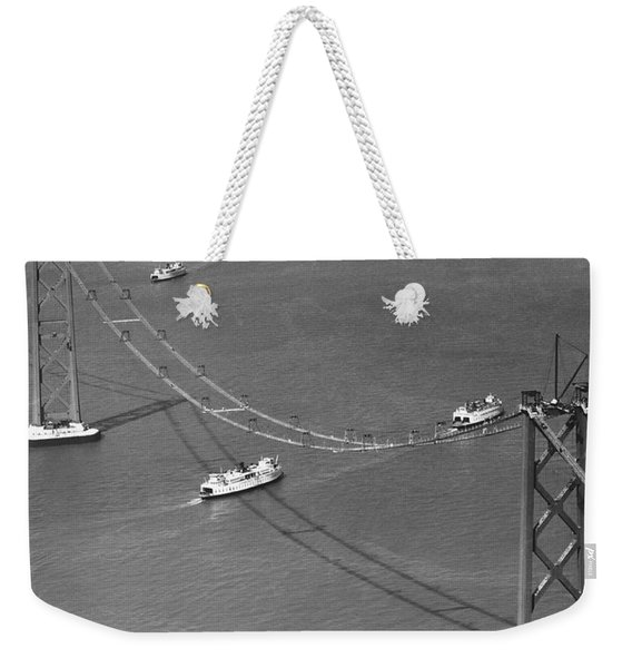 Bay Bridge Under Construction Weekender Tote Bag