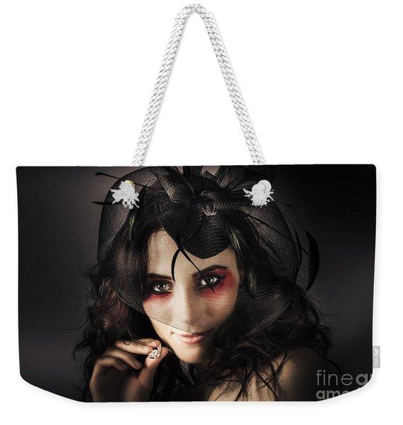 Beautiful Jewellery Woman Wearing Necklace Weekender Tote Bag