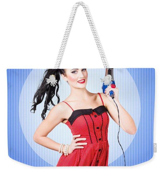 Beauty Salon Blow Dry Hair Style Weekender Tote Bag
