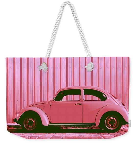 Beetle Pop Pink Weekender Tote Bag