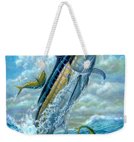 Big Jump Blue Marlin With Mahi Mahi Weekender Tote Bag